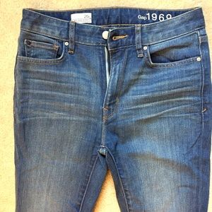 Gap 1969 High Rise Skinny Jeans Size 26 regular